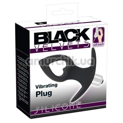 Анальная пробка с вибрацией Black Velvets Vibrating Plug, черная
