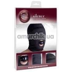 Маска с кляпом Fetish Collection Silence, чёрная - Фото №1
