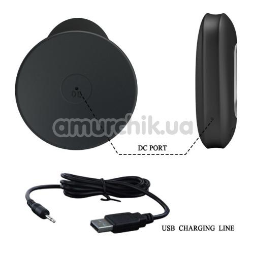 Анальная пробка с вибрацией MR Play Super Rower Remote Control Vibrating Anal Plug, черная