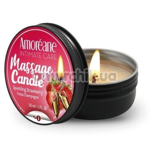 Массажная свеча Amoreane Massage Candle Sparkling Strawberry - клубника, 30 мл