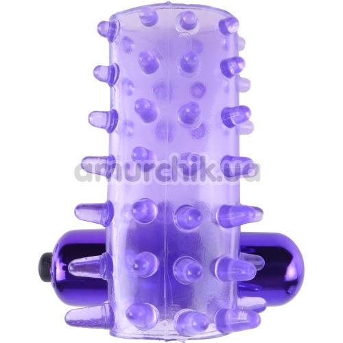 Насадка на пенис с вибрацией Fantasy C-Ringz Vibrating Super Sleeve, фиолетовая