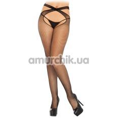 Колготки Wrap Crotchless Net Pantyhose, черные