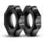 Набор эрекционных колец Stay Hard Nutz, черный - Фото №2