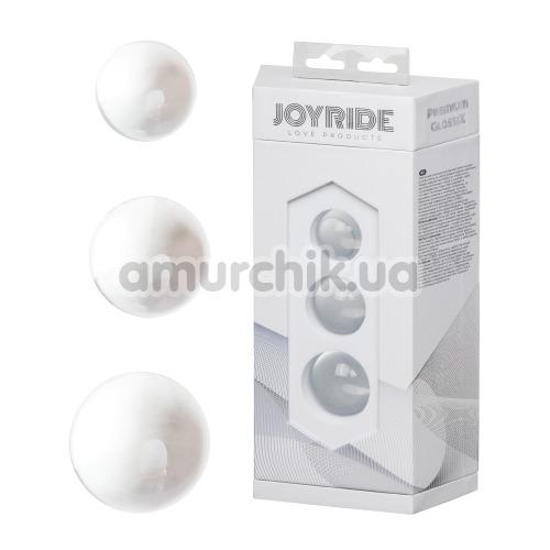 Вагинальные шарики Joyride Premium GlassiX 19, прозрачные
