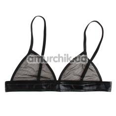 Бюстгальтер Erotic Clothing в сеточку, черный
