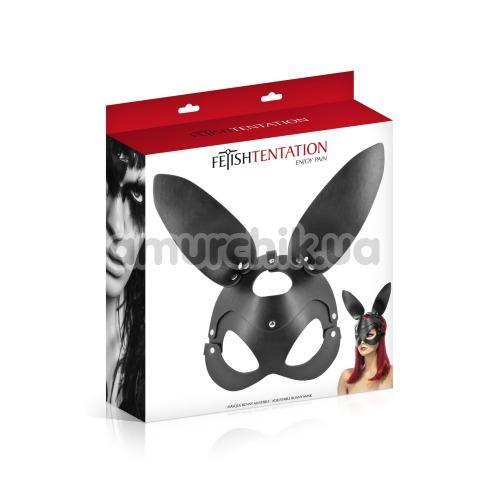 Маска зайчика Fetish Tentation Enjoy Pain Adjustable Bunny Mask, черная