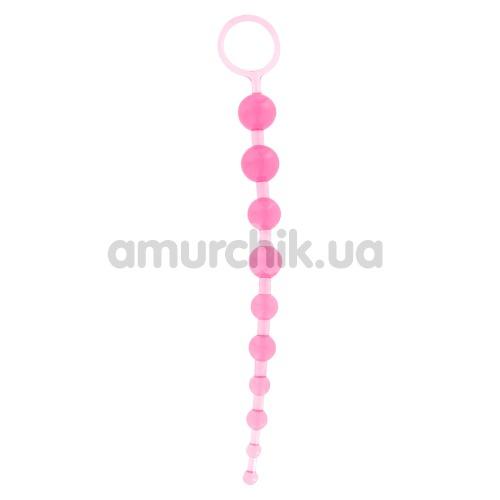 Анальные бусы Thai Toy Beads розовые - Фото №1