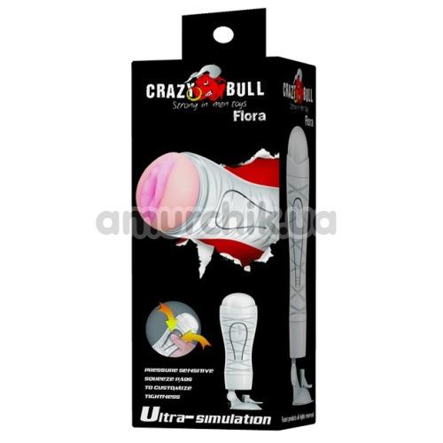 Мастурбатор Crazy Bull Flora 00900T48N-2, белый