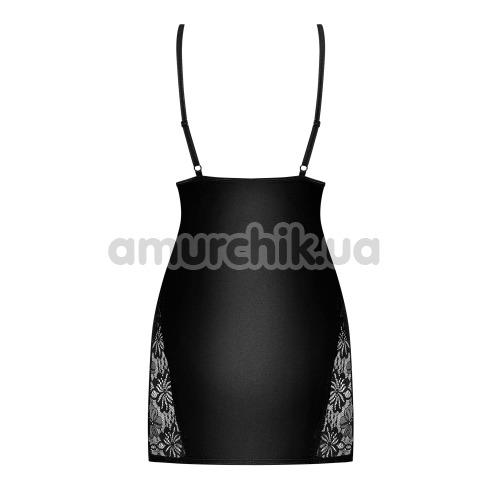 Комплект Obsessive 846-CHE-1 черный: пеньюар + трусики-стринги