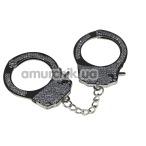 Наручники Fetish Pleasure Diamond Handcuffs, серебристые - Фото №1