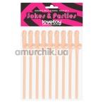 Трубочки для напитков LoveToy Jokes&Parties, телесные 9 шт - Фото №1