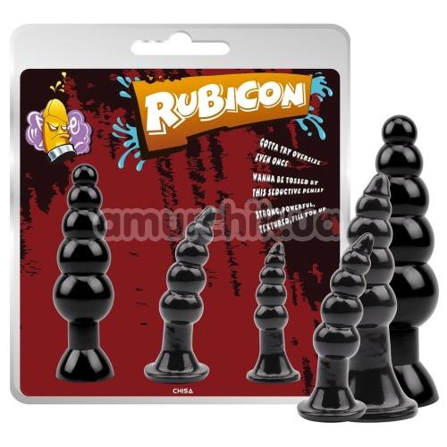 Набор анальных пробок Rubicon Late Night Pleasure Kit, черный
