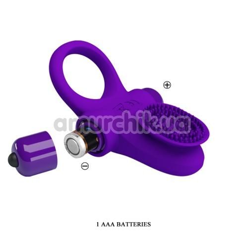 Виброкольцо Pretty Love Vibrant Penis Ring II, фиолетовое