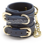 Наручники Bondage Couture Wrist Cuffs, синие - Фото №1