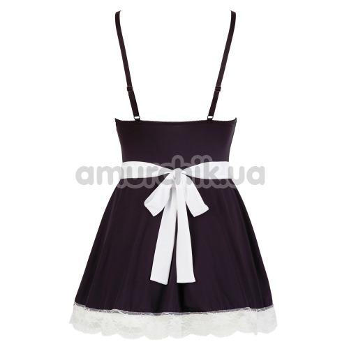 Костюм горничной Cottelli Collection Costumes 2470780 чёрный: платье + фартук
