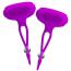 Стимуляторы для сосков с вибрацией Pretty Love Bancroft, фиолетовые - Фото №1