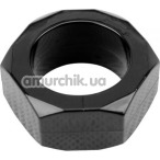 Эрекционное кольцо Get Lock Nust Bolts Cock Ring, черное - Фото №1