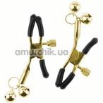 Зажимы для сосков Glocke Nippel с колокольчиками, золотые - Фото №1