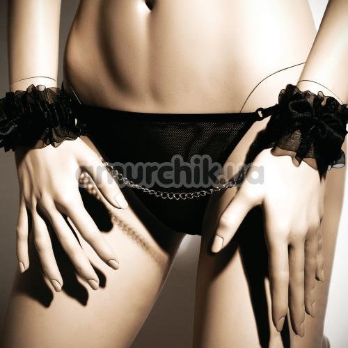 Наручники Bijoux Indiscrets Frou Frou Satin & Organza Handcuffs, черные