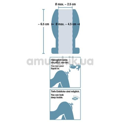 Анальная пробка Lust Tunnel Plug 125 g, серебряная