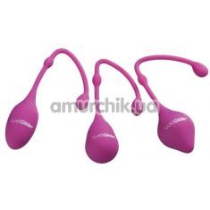 Набор вагинальных шариков LustGlider Kegel Ball Set, фиолетовый - Фото №1