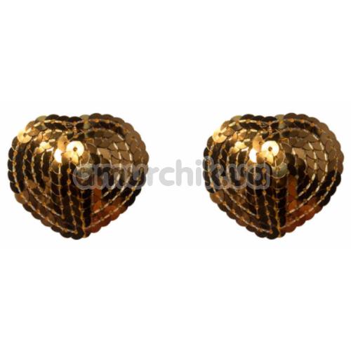 Украшения для сосков Burlesque Rand, золотые - Фото №1