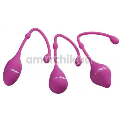 Набор вагинальных шариков LustGlider Kegel Ball Set, фиолетовый