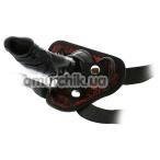 Страпон Blaze Deluxe Strap-On Dildo, черный - Фото №1