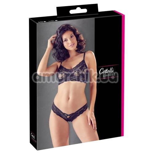 Комплект Cottelli Lingerie 2213656 черный: бюстгальтер + трусики