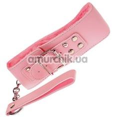 Ошейник с поводком Grrl Toyz Pink Plush Collar & Leash, розовый - Фото №1