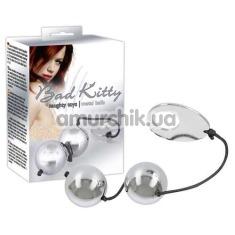 Вагинальные шарики Bad Kitty Heavy Metal Balls, серебряные