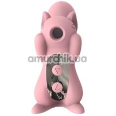 Симулятор орального секса для женщин с вибрацией KissToy Miss UU, розовый - Фото №1