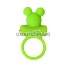 Виброкольцо A-Toys Cock Ring 768018-9, салатовое - Фото №1