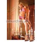 Комплект Baby Pink-Purple Lace Bikini Set: бюстгальтер + трусики-стринги - Фото №1