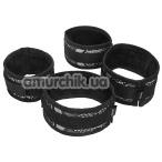 Бондажный набор Steamy Shades Wrist to Ankle Cuffs, чёрный - Фото №1