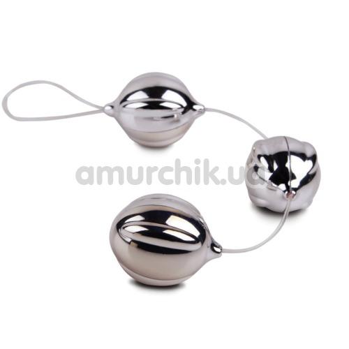 Вагинальные шарики Viballs Triple, серебряные