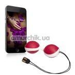 Вагинальные шарики с вибрацией Amor Vibratissimo Balls, бело-красные - Фото №1
