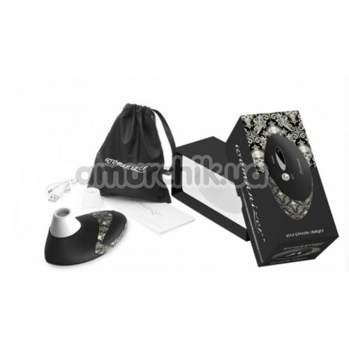 Симулятор орального секса для женщин Womanizer W500 Pro, черный с узором
