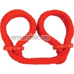 Фиксаторы для рук Japanese Silk Love Rope Wrist Cuffs, красные - Фото №1