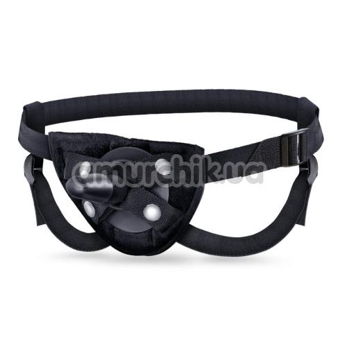 Трусики для страпона Lock On Strap On Harness With Suction Cup, черные - Фото №1