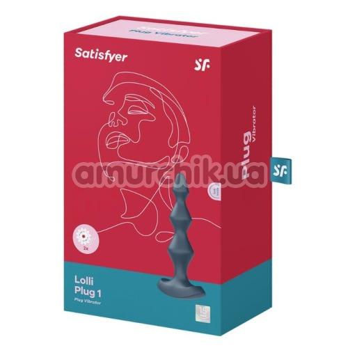 Анальный вибростимулятор Satisfyer Lolli Plug 1, синий