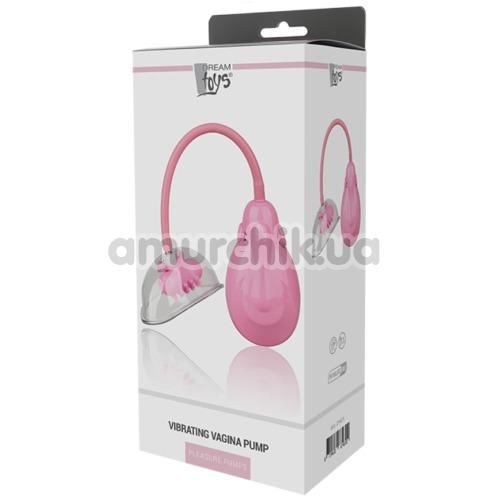 Вакуумная помпа для вагины с вибрацией Pleasure Pumps Vibrating Vagina Pump, розовая