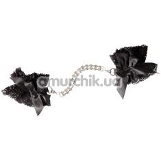 Фиксаторы для рук Cottelli Collection Accessories Rhinestone Handcuffs, черные