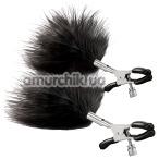 Зажимы для сосков Steamy Shades Adjustable Feather Nipple Clamps, серебряные