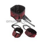 Ошейник с фиксаторами для рук Scandal Posture Collar with Cuffs, черно-красный - Фото №1