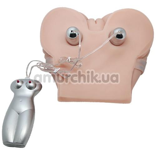 Искусственная вагина и анус с вибрацией Baile в шортах, телесная