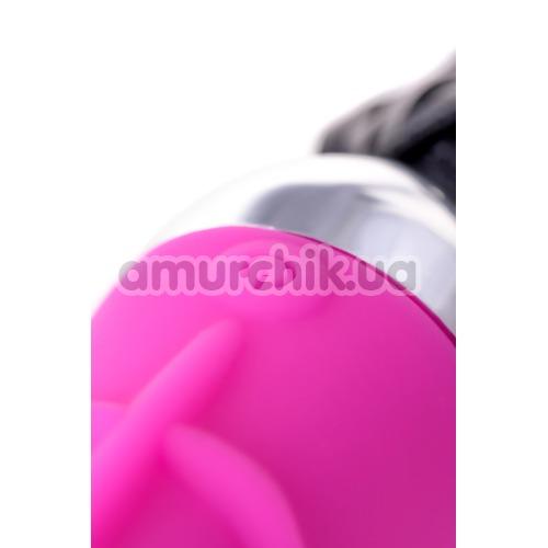 Вибратор с флоггером Black&Red Tail Vibrator, розовый