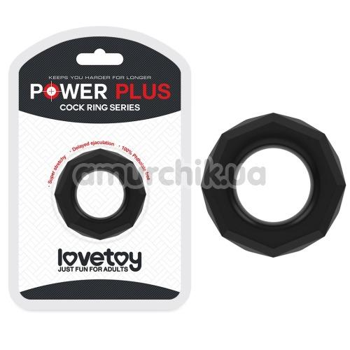 Эрекционное кольцо Power Plus Cock Ring Series LV1434, черное