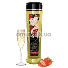 Массажное масло Shunga Erotic Massage Oil Romance Sparkling Strawberry Wine - клубничное вино, 240 мл - Фото №1