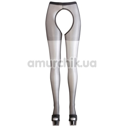 Колготки Cottelli Collection Strumpfhose Ouvert Crotchless Tights (2510103), чёрные